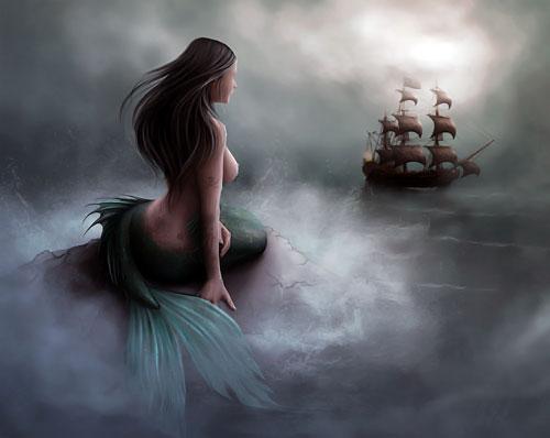 Mermaid Is A Mythological Aquatic Creature With Female Human Head